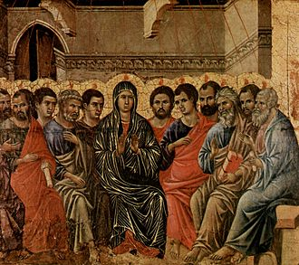 Image of the Pentecost. Duccio di Buoninsegna (1308).