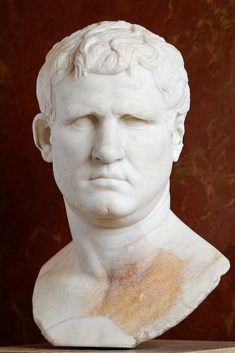 Bust of Marcus Vipsanius Agrippa from the Forum of Gabii, currently in the Louvre, Paris