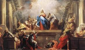 Pentecost, a painting by Jean II Restout, 1732