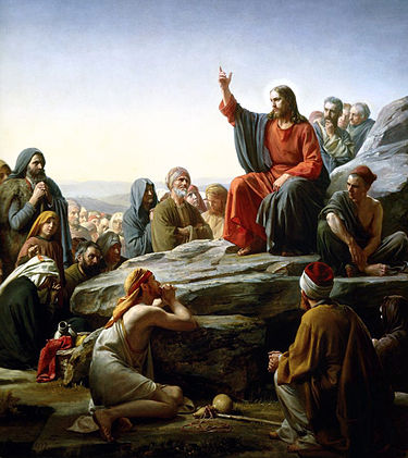 Carl Heinrich Bloch's depiction of the Sermon on the Mount