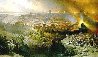 The Siege and Destruction of Jerusalem, Painting by David Roberts (1850)