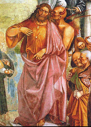 Antichrist and the Devil. Detail from the Deeds of the Antichrist fresco by Luca Signorelli, c. 1501