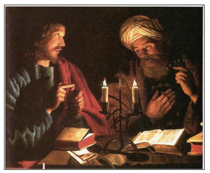 Jesus and Nicodemus Painting by Crijn Hendricksz, 1616–1645