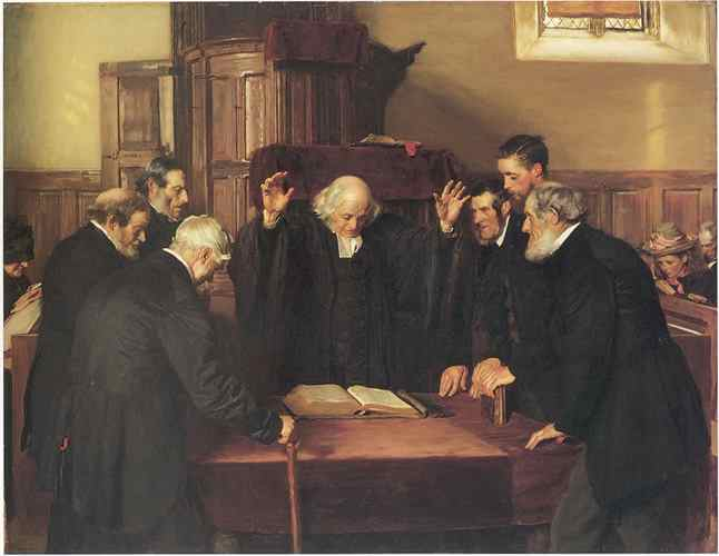 The Ordination of Elders Painting by John Henry Lorimer (1856–1936)