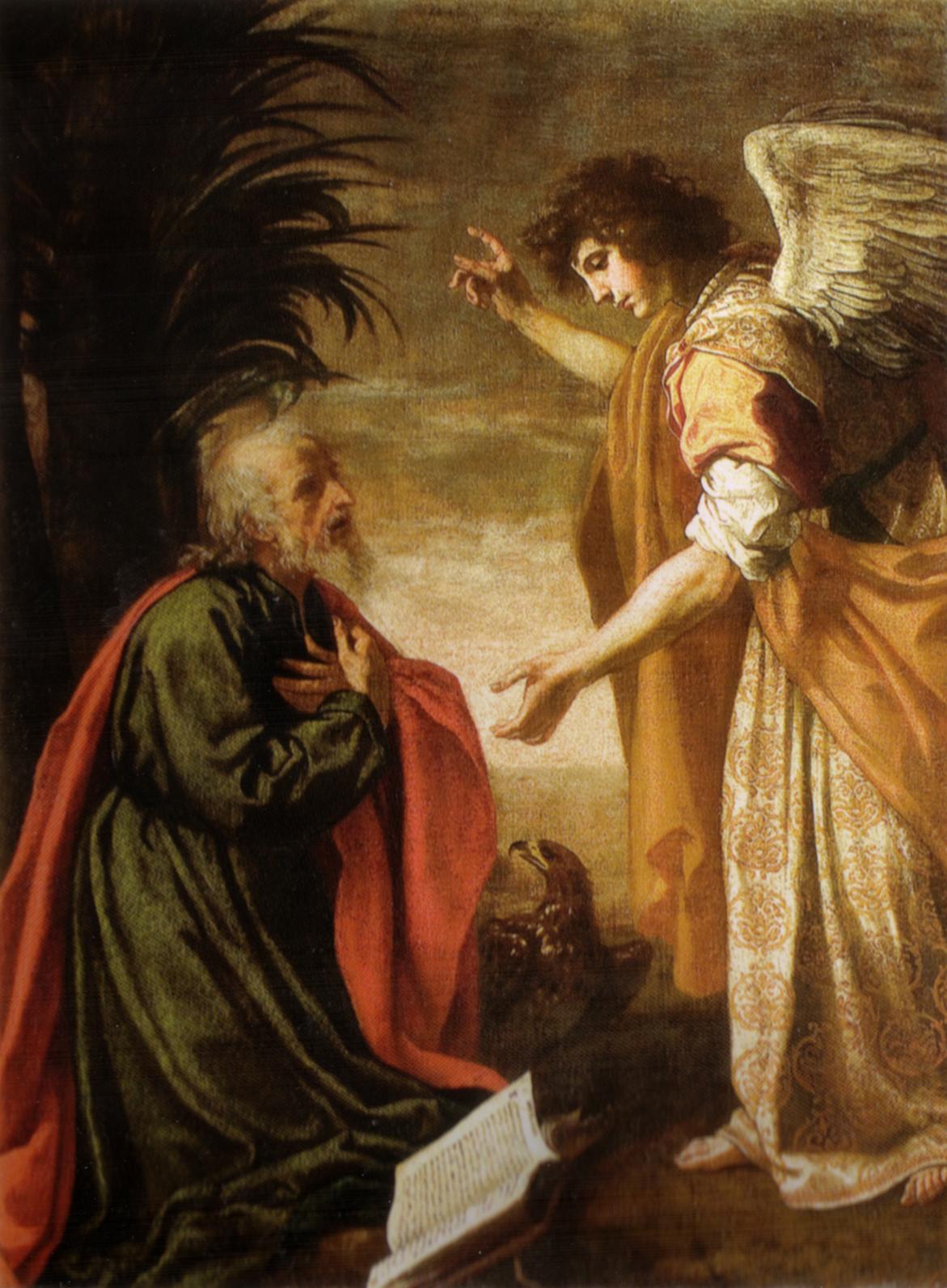 John the Apostle on Patmos, Painting by Jacopo Vignali