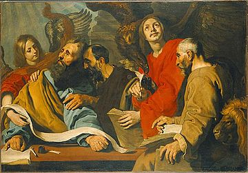 The Four Evangelists, by Pieter Soutman, 17th century