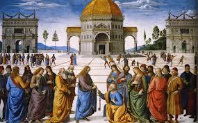 Christ Handing the Keys to St. Peter by Pietro Perugino (1481-82)